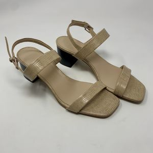 Everlane The Double Strap Block Heel Sandal Sand